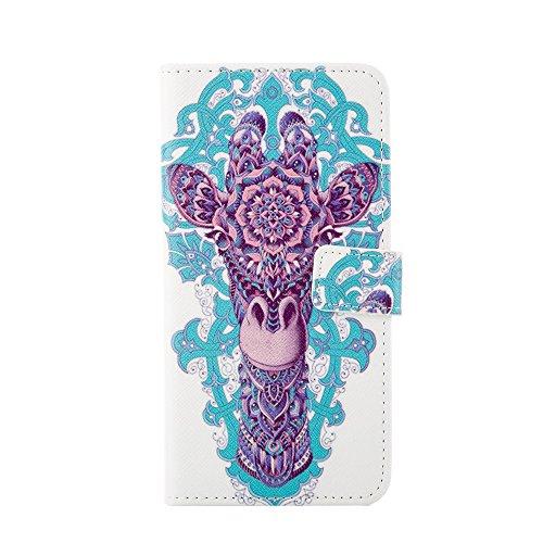 """MOONCASE Housse pour iPhone 6 Plus (5.5"""") Protection Cuir Portefeuille Case Coque en Housse de Étui à rabat [Série Motif] /a21 a04"""