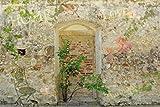 1art1 63834 Mauern - Romantische Garten-Mauer Poster Kunstdruck 180 x 120 cm