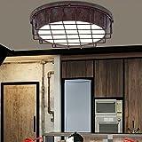 OOFAY LIGHT® LED Deckenleuchte Retro Vintage Industrie Stil Kreative Eisen Runde Design DeckenLampen Persönlichkeit Elegant Leuchte,Schlafzimmer Wohnzimmer Esszimmer Loft Balkon Decke Helles Licht,24W