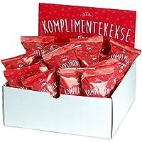25-er Box Kompliment-Kekse | Glückskekse für Hochzeit, Geburtstag, Valentinstag, Muttertag, Geschenk für die beste Freundin, liebsten Kollegen | frisch gebacken, vegan, made in Germany