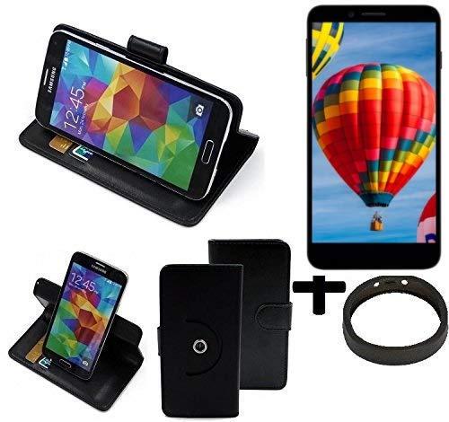 K-S-Trade® Hülle Schutzhülle Case Für -Vestel V3 5030- + Bumper Handyhülle Flipcase Smartphone Cover Handy Schutz Tasche Walletcase Schwarz (1x)