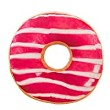 Yvelands Oreillers Donut Ronde Coussins Lombaires Candy Forme Impression Taies D'Oreillers Accueil DéCoration (H,Onesize)