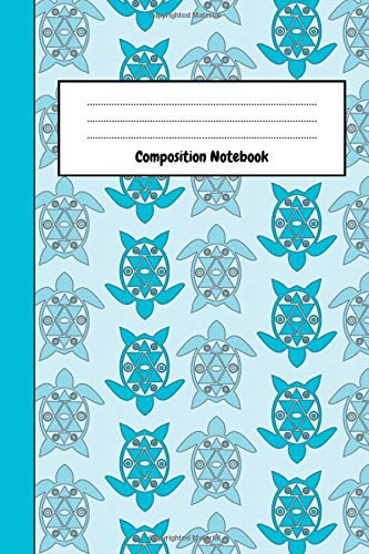 Composition Notebook: Lovely Turtle Journal / Diary, Unique Gifts For Turtle Lovers (Lined, 6