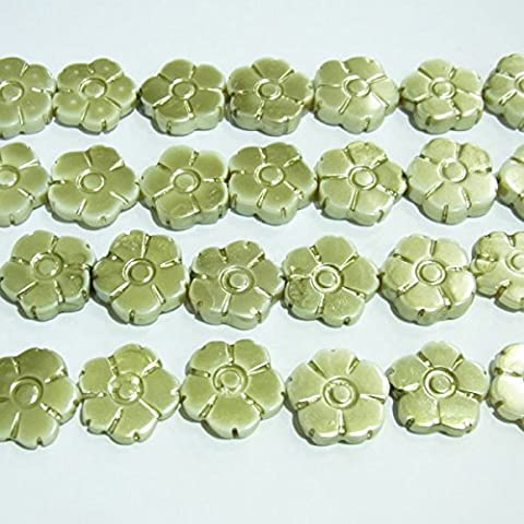 thetastejewelry 15mm Shell Blume Charm Bead Jewelry Making Findings Enden–2013