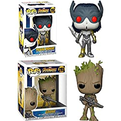 Funko POP! Marvel Avengers Infinity War: Proxima Midnight + Groot