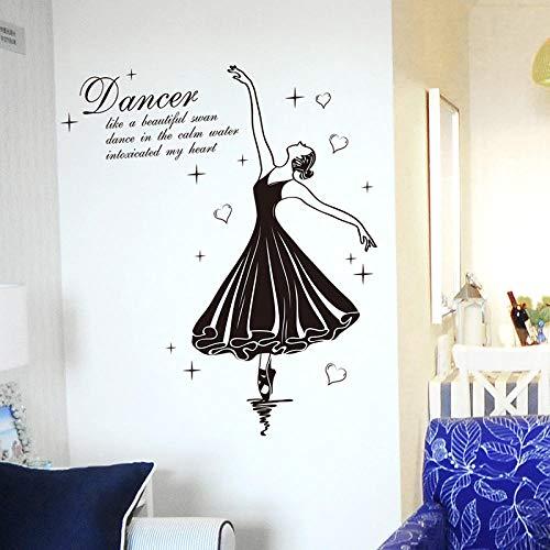 Schöne Ballett-Mädchen-Frauen-Tänzer-dekorative Kinderwand-Aufkleber, Musik-Raum-lateinischer Tanz-Raum-Wand-Dekorations-Aufkleber-Wand-Aufkleber - Schöne Ballett-mädchen