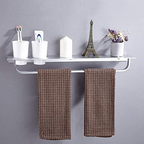 O&YQ Bad- / Küchenzubehör Space Aluminium-Zahnbürste, Zahn-Cup Holder, Bad-Regal, Wandhalterung Tisch mit Cup - Holder Cup Zahn