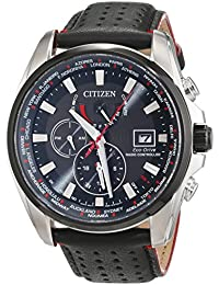 Citizen Herren-Armbanduhr Analog Quarz Leder AT9036-08E