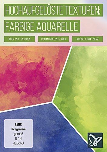 Farbige Aquarell (Hochaufgelöste Texturen: farbige Aquarelle)