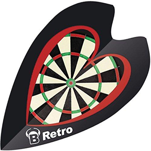 Unbekannt BULL'S Retro Dart Fights 100 Micron schwarz Dartscheibe