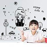 Stickers Muraux Sticker Mural Amovible Chambre Enfant Fille 78 * 125Cm