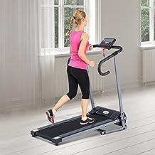 Outsunny - Tapis roulant elettrico con schermo LCD, per l'allenamento in casa, home fitness 500 W pieghevole nero-grigio - Attrezzature Per Il Fitness Allenamento Tapis Roulant