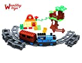 #8: Wembley Toys Thomas Battery Operated Train Track Toy Set with Train/Coach/Trees/House and Sound and Flashing Lights for Kids