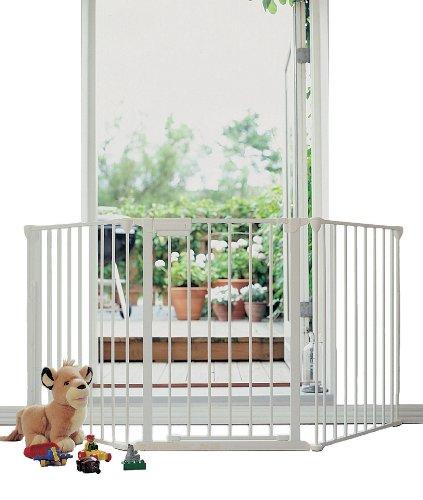Imagen 2 de Baby Dan 5624-10400-17-85 - Reja de protección para chimenea (2 articulaciones, 90 a 180 cm), color blanco