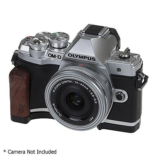Fotodiox Pro, Impugnatura deluxe in metallo nero per fotocamera digitale Olympus OM-D E-M10 II Mark III, Mirrorless Micro Four-Thirds con accesso per la batteria