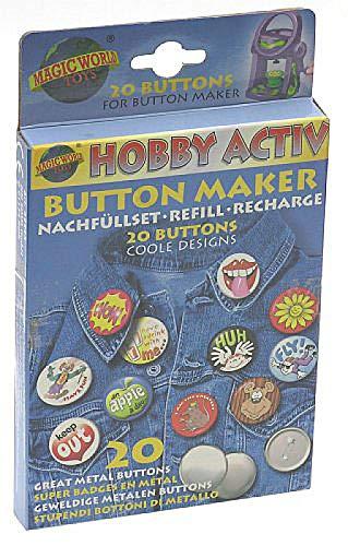 Magic World Button Maker Nachfüllset für Hobby Activ Buttonmaker -