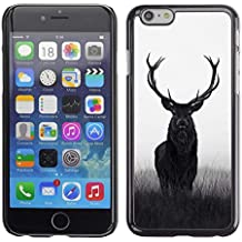 Smartphone Hard PC Funda Carcasa para iPhone 6/6S (4,7)/Phone Case TECELL store/Ciervo Hunter de caza Spring Majestic