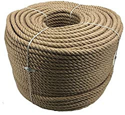 RopeServices UK 10mm Natural Jute Rope x 30 Metres - 4 Strand, Decking, Garden, Boating, Home
