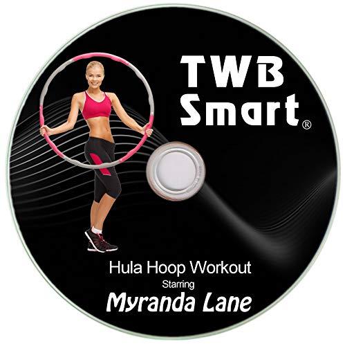 TWB Smart Hula-Hoop für Erwachsene, mit Fettverbrennung, verstellbares Design mit 8 Abnehmbaren Abschnitten, Bonus-Maßband, inkl. Fitness-Trainings-DVD, DVD (Reifen Erwachsenen Dvds)