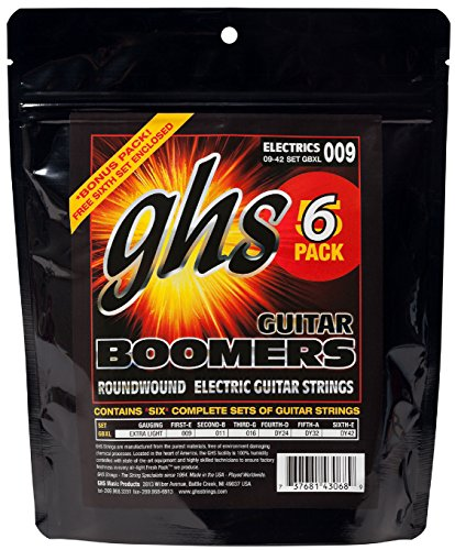 GHS GB-XL-5 Boomers String Extra Light (5er Pack), 009-042