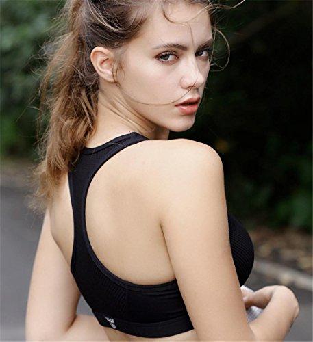 HAPPYMOOD Femme Sports Bra Rembourré Strappy Soutien-gorge de sport Yoga Tops Vêtements de sport Vêtements dentraînement Pour femme 4pcs