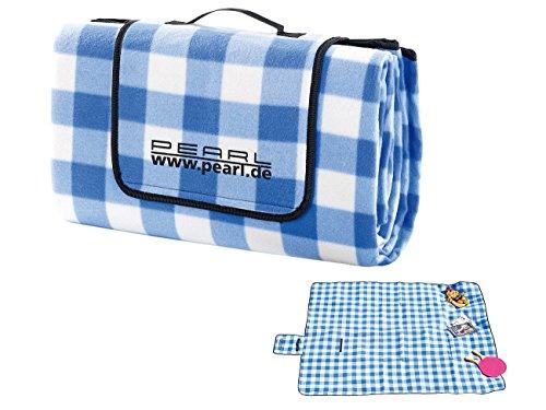 PEARL Fleece-Picknick-Decke mit wasserabweisender Unterseite, 200 x 175 cm