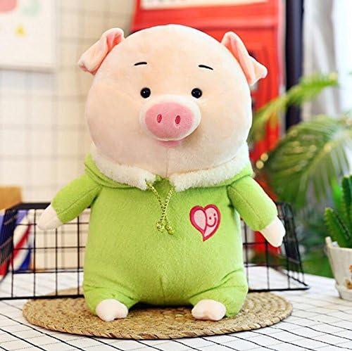 WarmFemme Peluche Valentine Cadeau de Noël Peluche 38cm Cochon Souple avec Chapeau Peluche Animé Pig Toy Toy Décoration (Vert) | Sélection Large