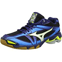 Mizuno Wave Bolt, Zapatos de Voleibol para Hombre, Multicolor (Black/White/Bluedepths), 44.5 EU