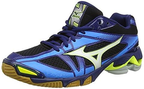 Mizuno Wave Bolt, Chaussures de Volleyball Homme, Multicolore (Black/White/Bluedepths), 44.5 EU