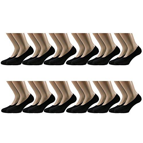 Fontana Calze, 12 paia di calzini invisibili salvapiede sanitari in cotone Filo di Scozia...