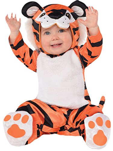 Tiger Baby Kostüme (Halloweenia - Baby Karneval Kostüm Tiny Tiger, Orange, Größe 80-92, 1-2)