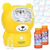 Máquina de Burbujas,WLOVETRAVEL Juguete de Burbujas de Gran Tamaño Operado con Batería Para Niños, Soplador de Burbujas Automático de Alto Aendimiento (Carga USB)