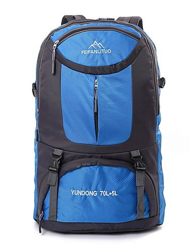 ZQ 65L L Tourenrucksäcke/Rucksack Camping & Wandern / Klettern Draußen Multifunktions Grün / Rot / Schwarz / Blau / Orange Nylon No Orange