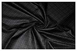 V Walkers Mens Poly Blend Checkered Unstitched Trouser Fabric (1.30 Mtr_Multi Coloured_VST122