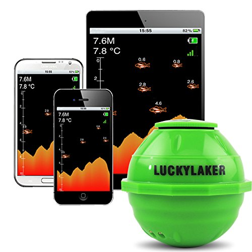 Lucky ff916Sonar Wireless WiFi Fisch-Finder 50m/130ft Sea Fish erkennen Finder Angeln Sonar Android iOS