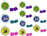 Putty Buddies Ohrstöpsel 10-pair Pack–Ohrstöpsel aus weichem Silikon für Schwimmen und Baden–erfunden von ent Arzt–Block Wasser–PREMIUM Schwimmen Ohrstöpsel–Arzt empfohlen, Purple/Teal/Magenta