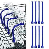 Portabicchieri sospeso-TianranRT★ 8Pcs Regola il calice della lavastoviglie in vetro per vino in silicone Porta bicchiere di vino,Blu