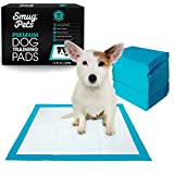 SmugPets 100 Premium Puppy Dog Training Pads - 6 Layers with Poly Lock