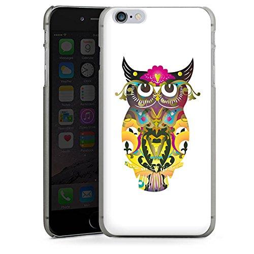 Apple iPhone X Silikon Hülle Case Schutzhülle Decorative Owl Eule Muster Hard Case anthrazit-klar