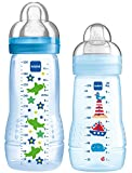 MAM 99970211 - Easy Active Baby Bottle Set, 270 ml plus 330ml, Jungen