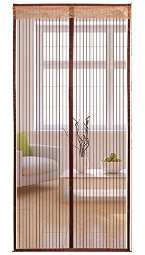 Icegrey Puerta De Pantalla Magnética, Puerta De Pantalla Del Acoplamiento Mejorada, Se Ajusta A Las Puertas 9Ocm x 200cm Café