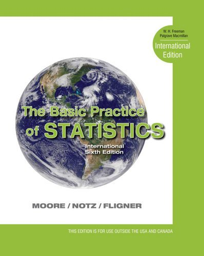 The Basic Practice of Statistics: International Edition: Written by David S. Moore, 2012 Edition, (6th edition) Publisher: W. H. Freeman [Paperback]