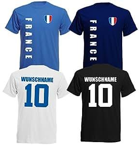 11 x Kinder T-Shirt Trikot Look – MINI EM 2016 – Frankreich