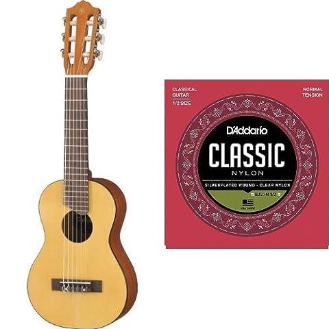 Yamaha GL-1 Gitarre Ukulele 43,2 cm (17 Zoll scale) + D'Addario EJ27N-1/2 Satz Nylonsaiten für 1/2 Konzertgitarre - Normal Tension (Yamaha Akustik-gitarren Saiten)