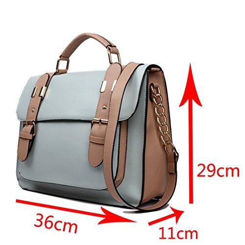 Miss Lulu borsa da donna borsa a tracolla Copertina a pois di marca vintage borsa messenger pelle sintetica scambio di lavoro Borsa da scuola 1521 Black