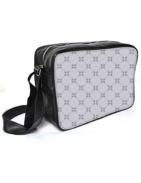 Snoogg Lite grau Muster Leder Unisex Messenger Bag für College Schule täglichen Gebrauch Tasche Material PU