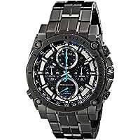 Bulova Herren-Armbanduhr Precisionist Analog Quarz Edelstahl 98B229