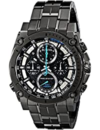 Bulova - 98B229 - Precisionist Chrono - Montre Homme - Quartz Chronographe - Cadran Noir - Bracelet Acier Gris