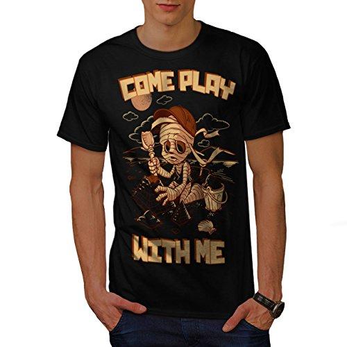 Kommen Sie Spielen Mit Mich Zombie Mumie Kind Herren S T-shirt | - Monster Halloween-burger