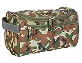 iSuperb Toilette Bag Borsa da viaggio Grande Beauty Case Toiletry Bag Impermeabile per Uomo e Donna 25×13×14cm (Verde) immagine